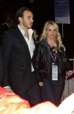 BRITNEY SPEARS Leaves Super Bowl XLIX in Pheonix