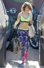 BROOKE BURKE in Tank Top Leaves a Gym in Malibu