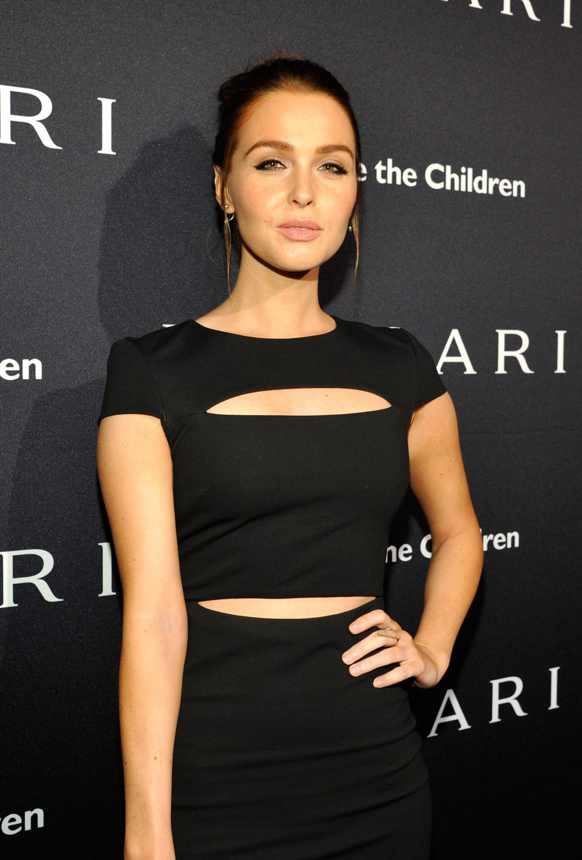 CAMILLA LUDDINGTON at Bvlgari and Save the Children stop. think. give. Pre-oscar Gala in Beverly Hills