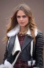 CARA DELEVINGNE at Burberry Fashion Show in London