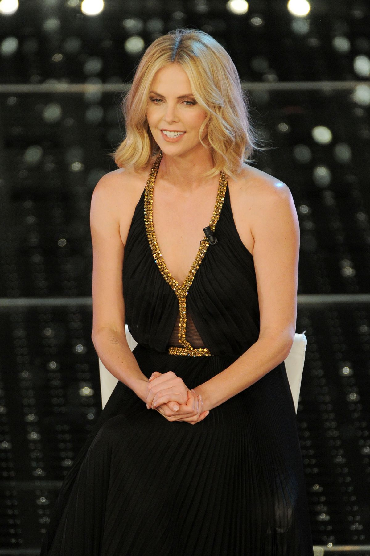 CHARLIZE THERON at 2015 Sanremo Music Festival