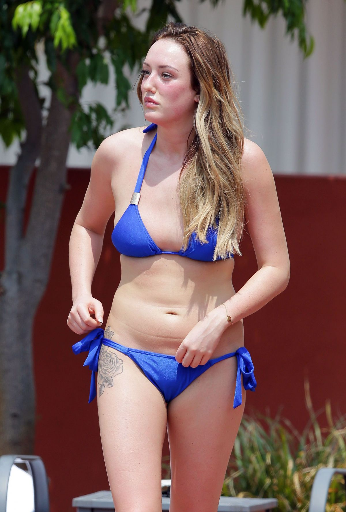 CHARLOTTE CROSBY in Bikini at a Pool in Australia