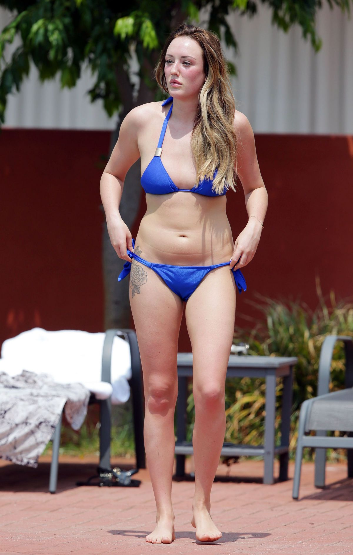 Charlotte Crosby In Bikini At A Pool In Australia Hawtcelebs
