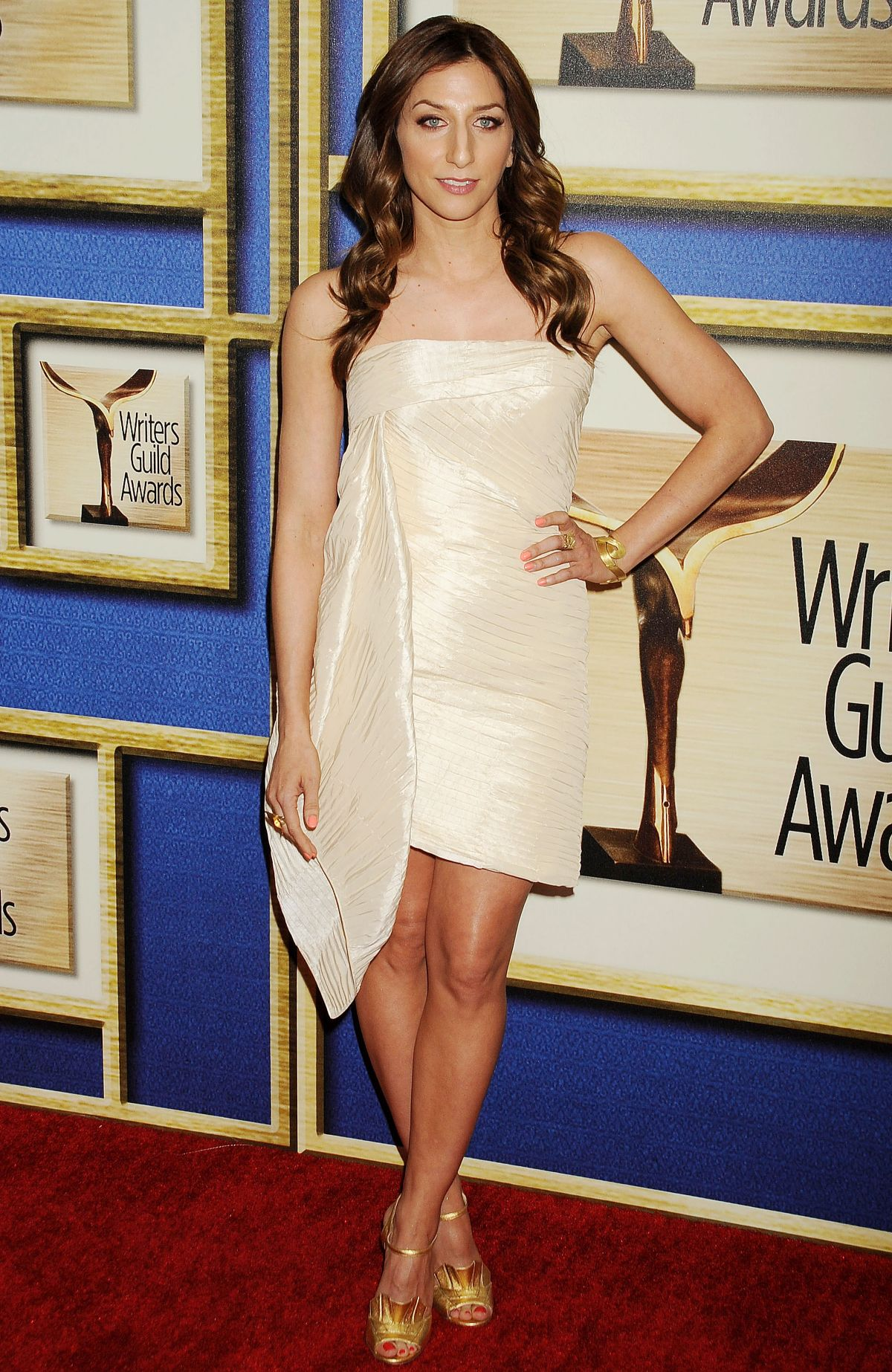 CHELSEA PERETTI at 2015 Writers Guild Awards in Los Angeles