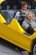 CHLOE MORETZ Out at Disneyland in Anaheim