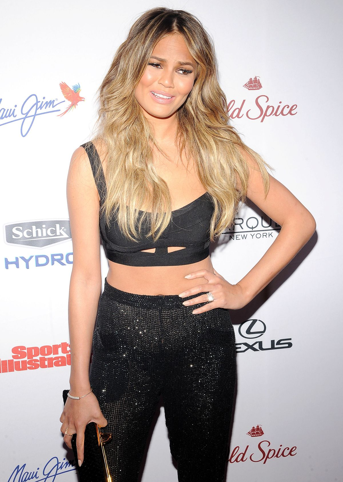 CHRISSY TEIGEN at 2015 Sports Illustrated Swimsuit Issue Celebration in New York