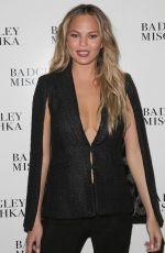 CHRISSY TEIGEN at Badgley Mischka Fall 2015 Fashion Show in New York
