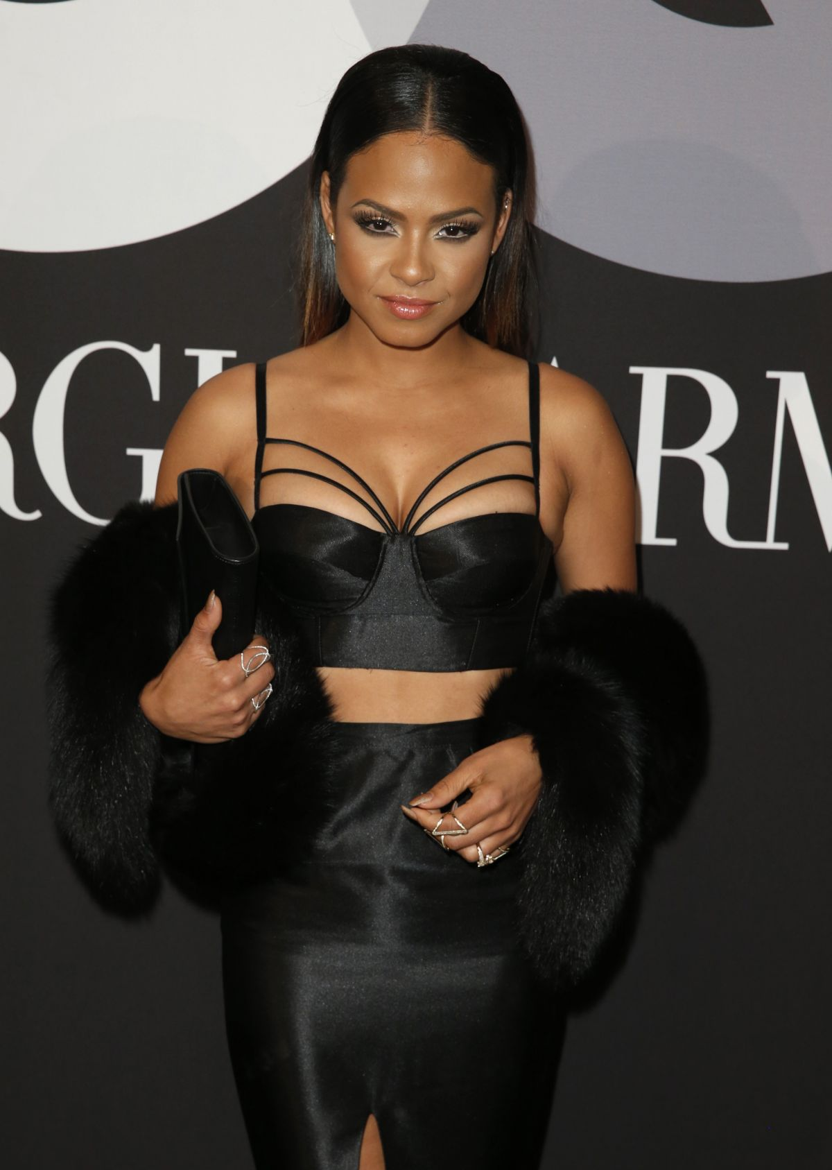 CHRISTINA MILIAN at GQ and Giorgio Armani Grammys After Party in Hollywood