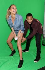 CHRISYY TEIGEN at Directv Super Fan Tailgate in Glendale