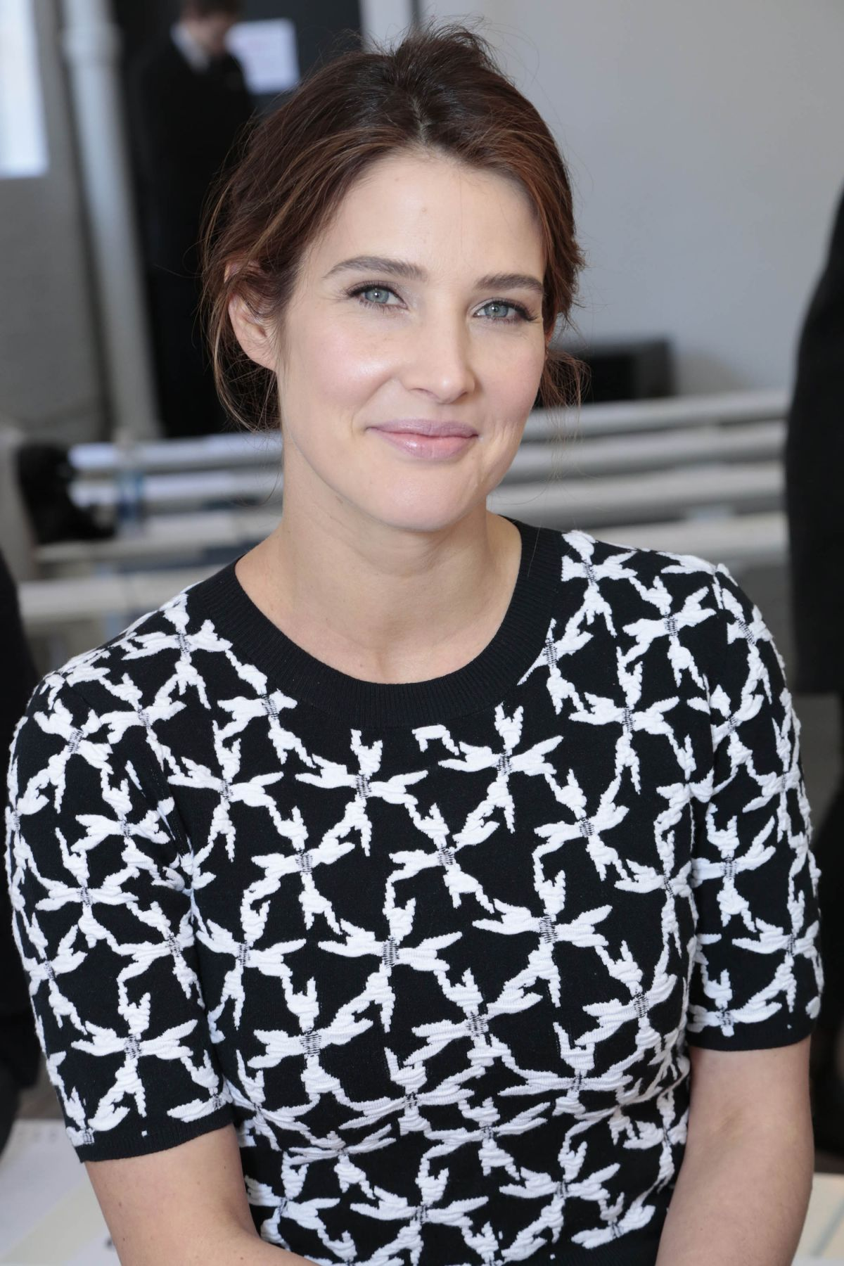 COBIE SMULDERS at Tanya Taylor Fashion Show in New York