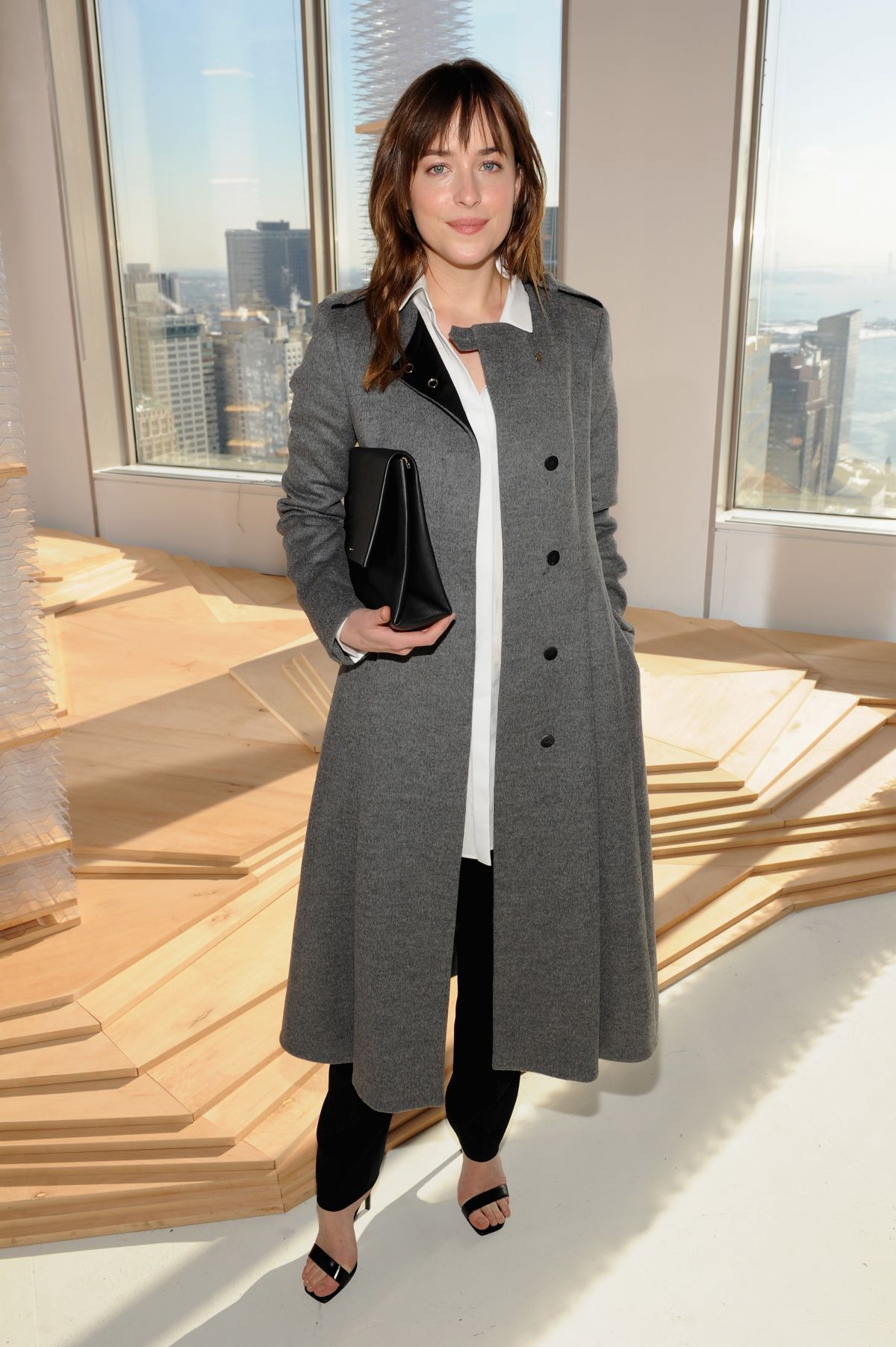 DAKOTA JOHNSON at Boss Womens Fashion Show in New York