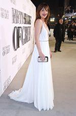 DAKOTA JOHNSON at Fifty Shades of Grey Premiere in London