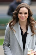 DANIELLE PANABAKER on the Set of The FLash in Vancouver