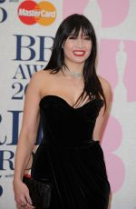 DIASY LOWE at Brit Awards 2015 in London