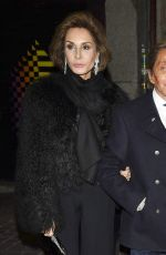 ELIZABETH HURLEY at Giancarlo Giammetti Birthday Party in Madrid