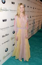 ELLE FANNING at Women in Film Pre-oscar Cocktail Party in Los Angeles