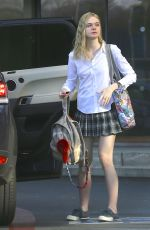 ELLE FANNING in Short Skirt Out nad About in Los Angeles 2602