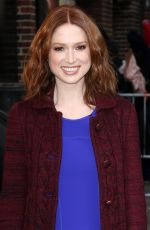 ELLIE KEMPER Arrives at Late Show with David Letterman in New York