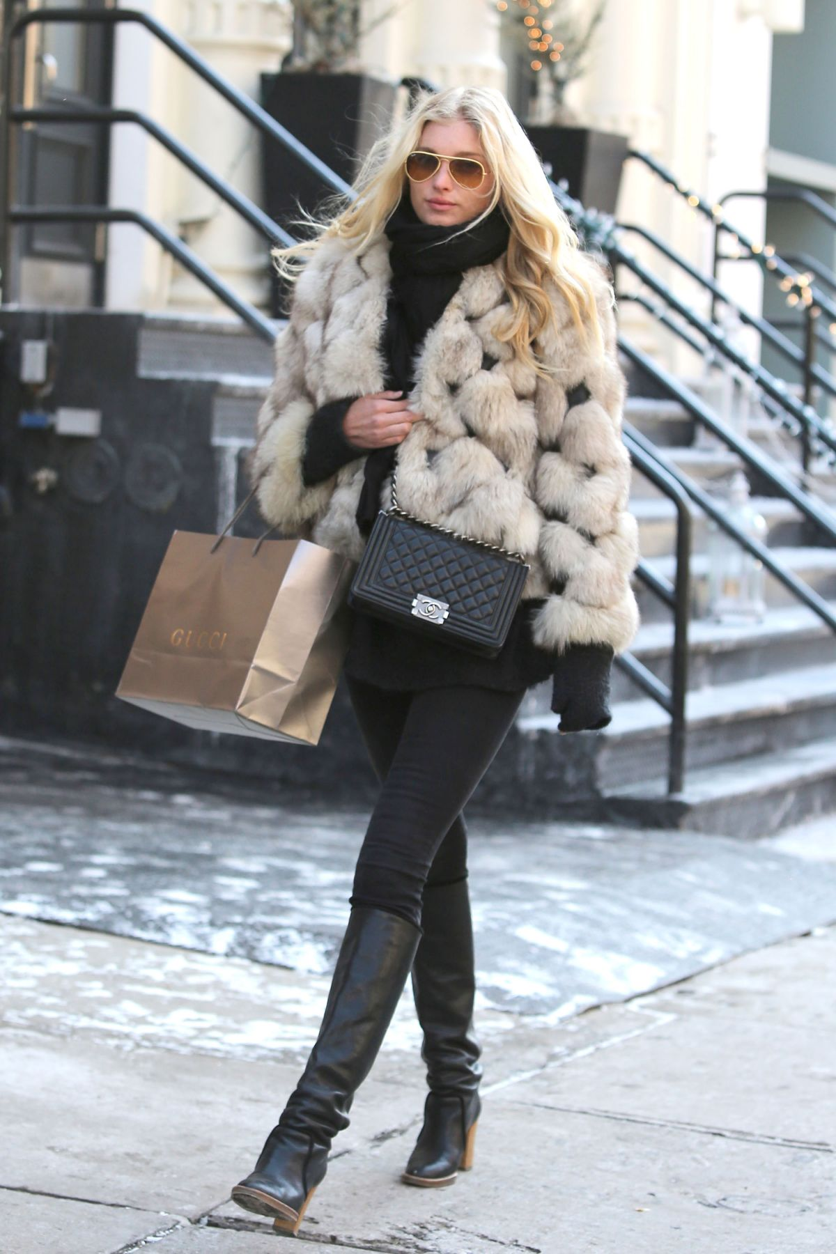 2611443a3d4 ELSA HOSK Out Shopping in New York - HawtCelebs