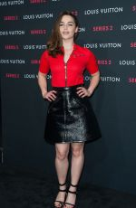 EMILIA CLARKE at Louis Vuitton Series 2 Exhibition in Hollywood