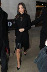 EMILY RATAJKOWSKI Arrives at BBC Radio 1 Studios in London 0202