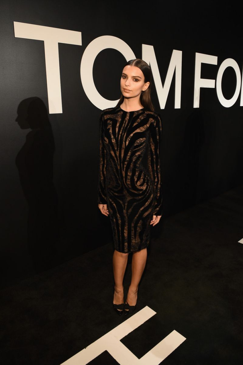EMILY RATAJKOWSKI at Tom Ford Womenswear Collection Presentation in Los Angeles