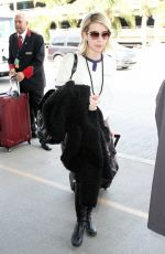 EMMA ROBERTS at LAX Airport in Los Angeles 1102