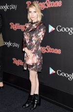 EMMA ROBERTS at Rolling Stone & Google Play Event at Grammy Week in Los Angeles