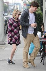 EMMA ROBERTS heading to a Caffe in Los Angeles 0702