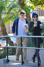 EMMA ROBERTS Leaves a Coffee Bean and Tea Leaf in Los Angeles