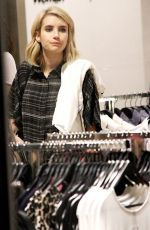 EMMA ROBERTS Shopping at The Grove in Los Angeles