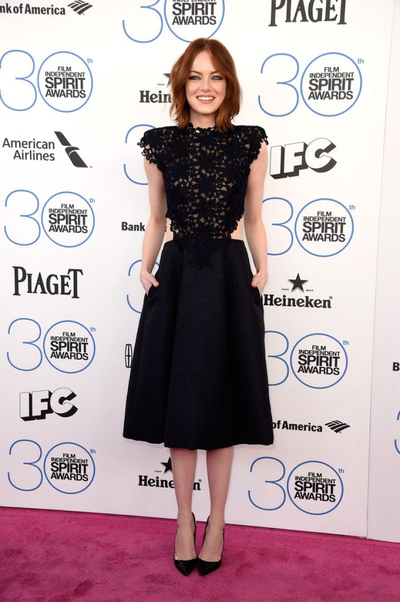 EMMA STONE at 2015 Film Independent Spirit Awards in Santa Monica