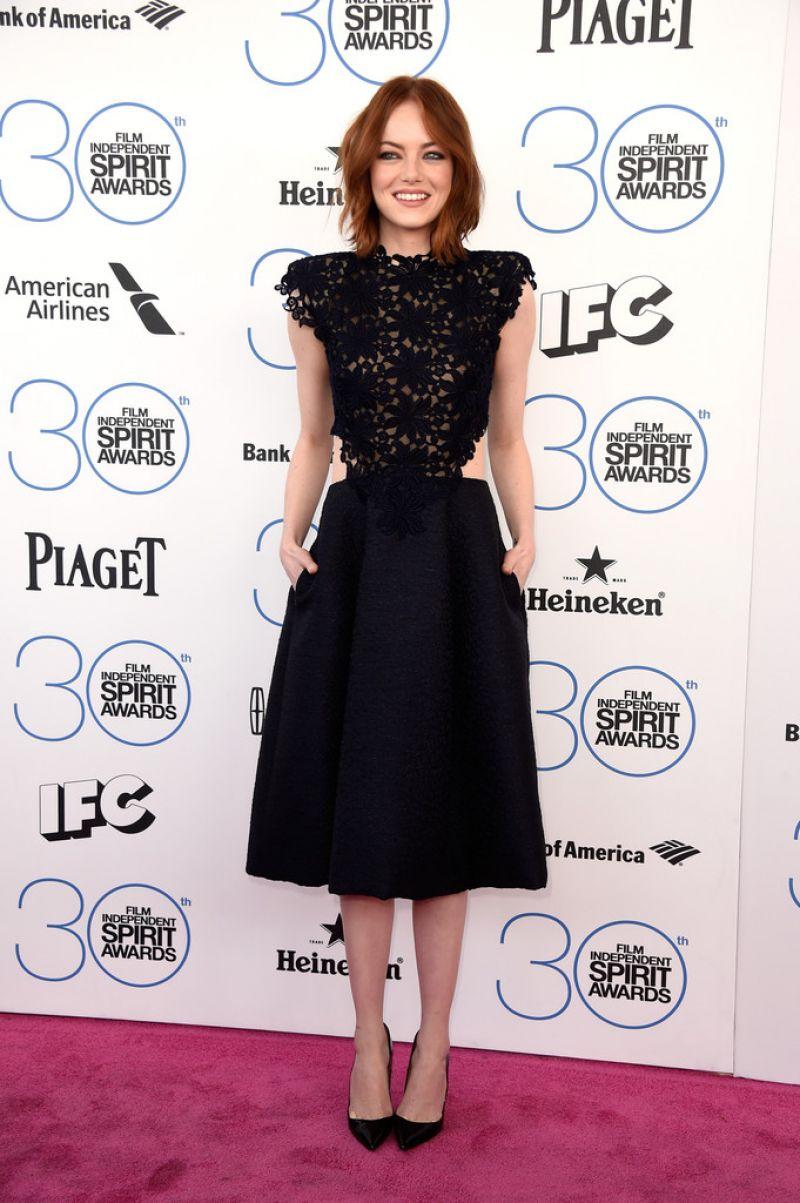 EMMA STONE at 2015 Film Independent Spirit Awards in Santa Monica