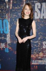 EMMA STONE at SNL 40th Anniversary Celebration in New York