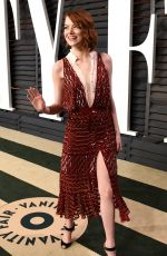 EMMA STONE at Vanity Fair Oscar Party in Hollywood