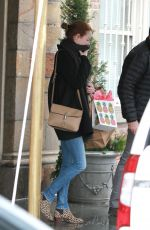 EMMA STONE Leaves Her Apartment in New York
