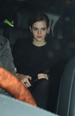 EMMA WATSON Leaves Charles Finch and Chanel Pre-bafta Party in London