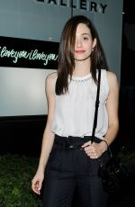 EMMY ROSSUM at An Exhibition at the De Re Gallery in Los Angeles