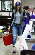 EMMY ROSSUM Leaves a Nail Salon in Beverly Hills