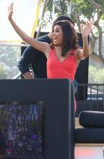 EVA LONGORIA on the Set of Extra in Los Angeles
