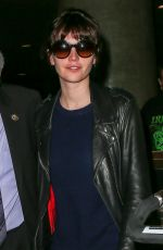 FELICITY JONES Arrives at LAX Airport in Los Angeles 2002