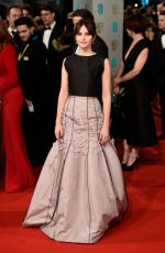 FELICITY JONES at 2015 EE British Academy Film Awards in London