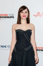 FELICITY JONES at 2015 Movies for Grownups Awards Gala in Beverly Hills