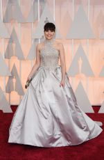 FELICITY JONES at 87th Annual Academy Awards at the Dolby Theatre in Hollywood