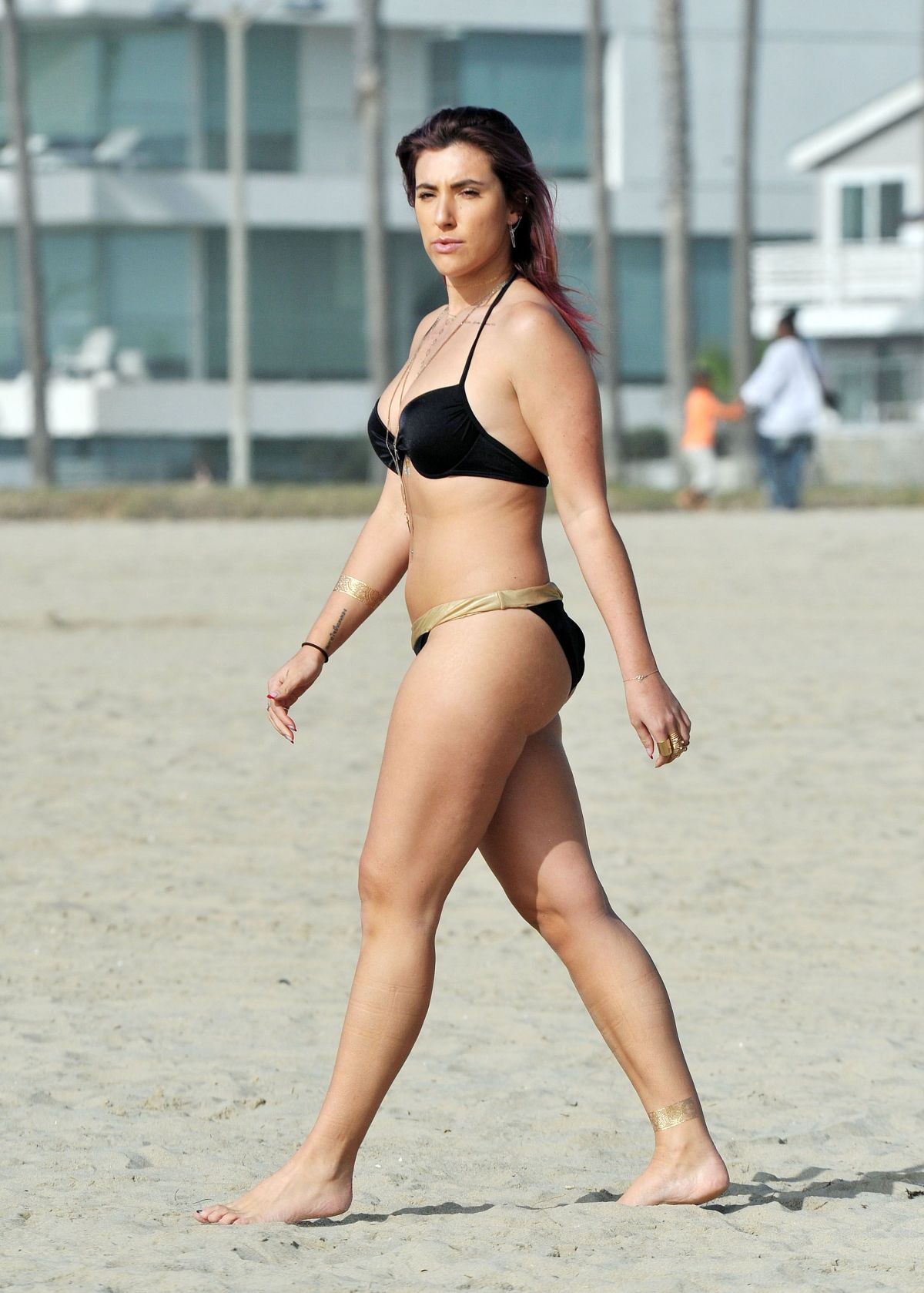 GABRIELLA ELLIS in Bikini at a Beach in Santa Monica