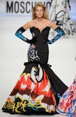 GIGI HADID at Moschino Fashion Show in Milan