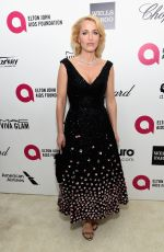 GILLIAN ANDERSON at Elton John Aids Foundation's Oscar Viewing Party