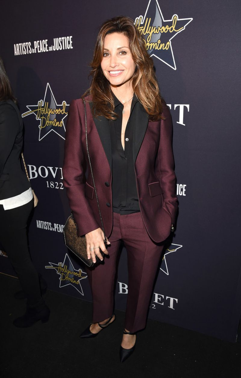 GINA GERSHON at 2015 Hollywood Domino Gala in Los Angeles