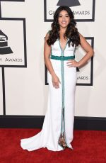 GINA RODRIGUEZ at 2015 Grammy Awards in Los Angeles