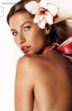 GISELE BUNDCHEN in Vogue Magazine